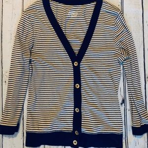J Crew Striped Cardigan Size Small